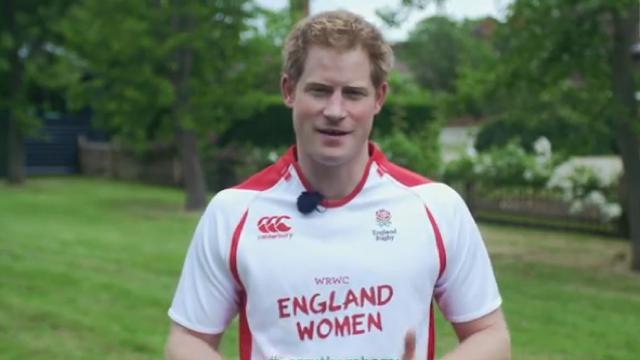 VIDEO. Le Prince Harry, ambassadeur de luxe de l'Angleterre avant la Coupe du monde de rugby féminin