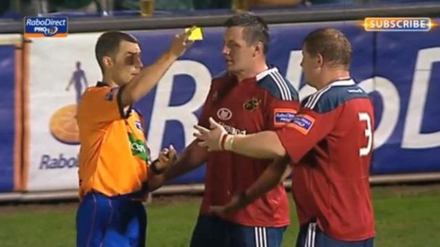VIDEO. Pro 12 - L'incroyable indiscipline du Munster sanctionnée de quatre cartons jaunes