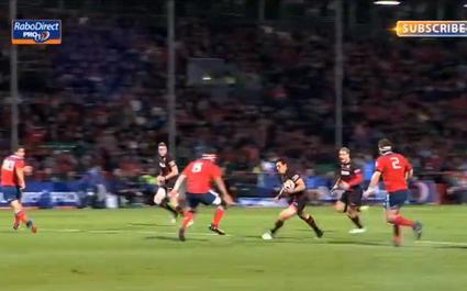 VIDEO. Nick de Luca fait l'amour à la défense du Munster
