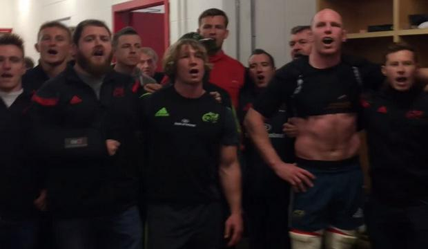 VIDEO. Pro 12 – Munster. Paul O'Connell mène son dernier Stand Up And Fight dans les vestiaires de Thomond Park