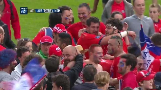 RESUME VIDEO. Pro D2 : Aurillac en finale au terme d'un superbe match face à Mont-de-Marsan