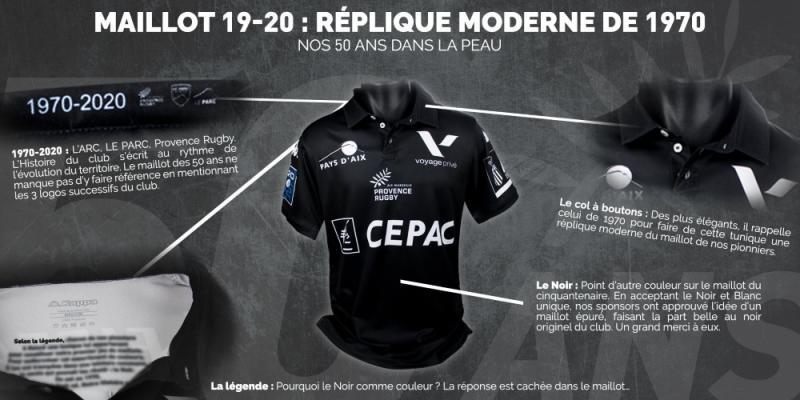 Pro D2 : le nouveau maillot de Provence Rugby rend hommage à la création du club, et il est superbe !