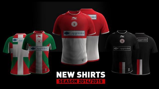 Pro D2 - Les nouveaux maillots du Biarritz Olympique pour la saison 2014-2015