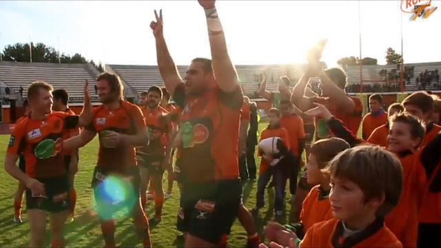 VIDEO. Pro D2 : Narbonne est à la fête après sa victoire contre la Section Paloise