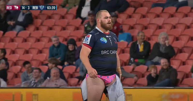 Cabous Eloff nous prouve que le rugby n'a pas encore perdu son âme avec un superbe slip rose [VIDÉO]