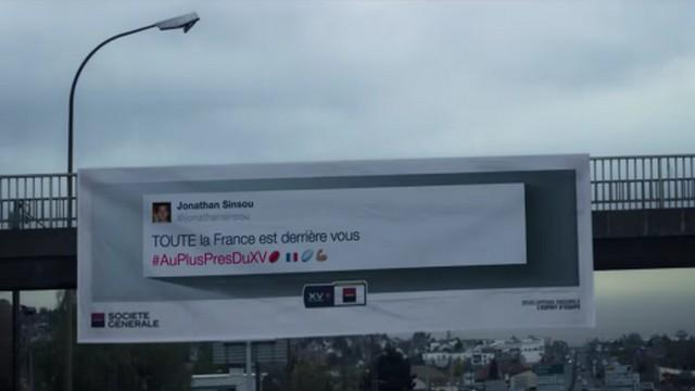 VIDEO. @ParAmourDuRugby affiche les tweets des supporters sur le chemin du XV de France