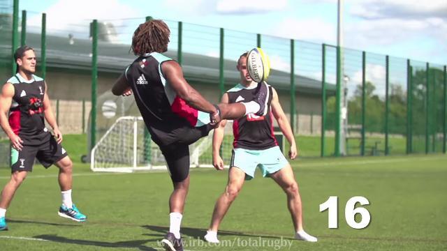 VIDEO. INSOLITE. Quand les Harlequins établissent un record de jongles avec un ballon de rugby