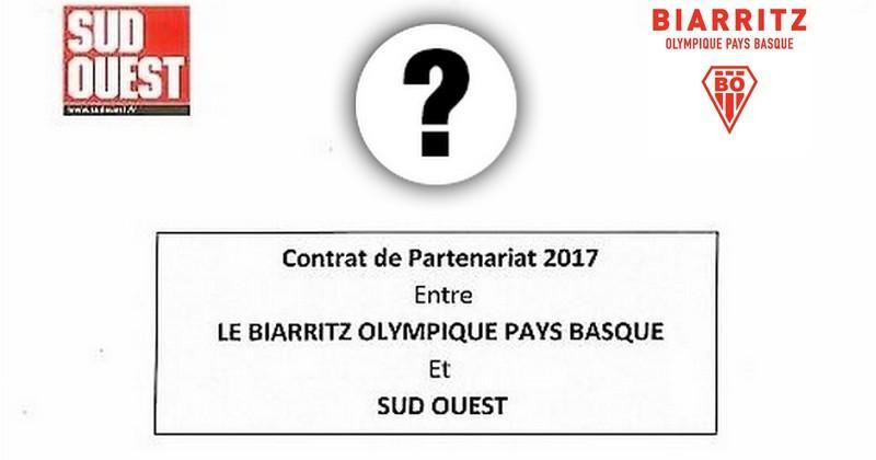 Que contenait le contrat de partenariat entre le Biarritz Olympique et Sud-Ouest ? [DESINTOX]