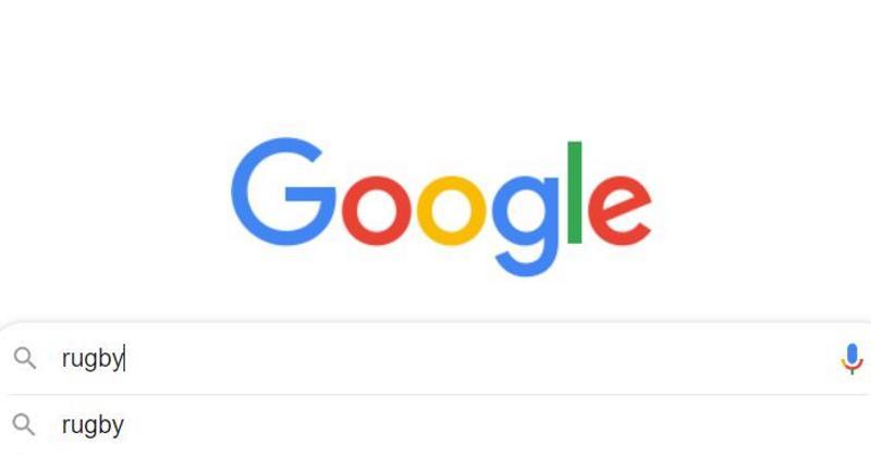 Que se passe-t-il si on tape « Rugby » dans la barre de recherche Google ?