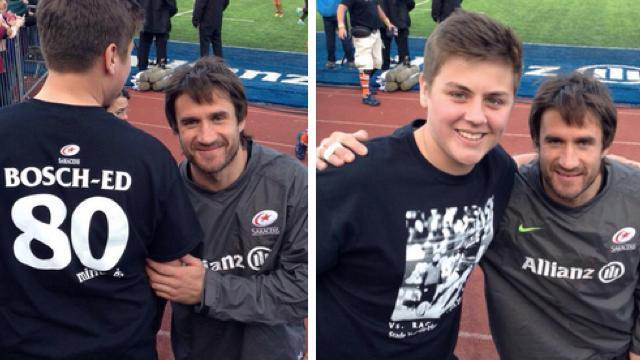 INSOLITE. Après leur victoire face au Racing, les Saracens éditent un t-shirt à la gloire de Marcelo Bosch