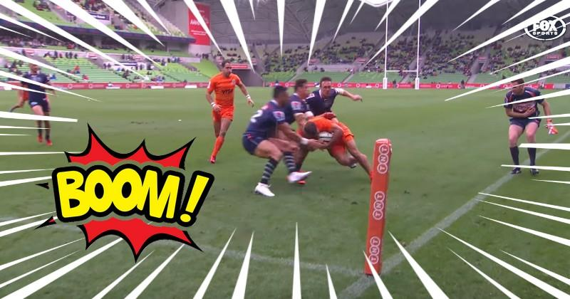 VIDEO. Super Rugby. Ramiro Moyano remporte un 1v3 impossible et marque