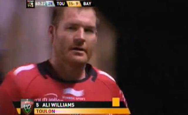 VIDEO. RCT - Aviron Bayonnais : Premier match et premier carton jaune pour Ali Williams