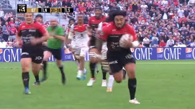 VIDEO. Top 14 - RCT : Ma'a Nonu fait (enfin) du Ma'a Nonu avec un superbe essai face au Stade Toulousain