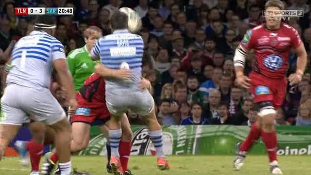 VIDEO. RCT - Saracens : Les deux énormes tampons de Craig Burden