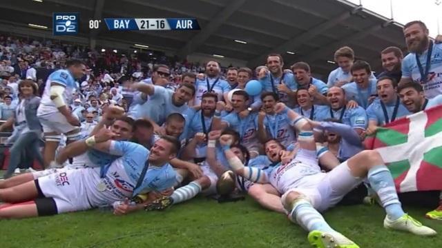 Pro D2 : un record pour la finale entre l'Aviron Bayonnais et le Stade Aurillacois