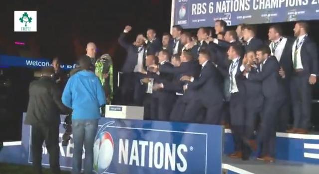 VIDÉO. VI Nations. Vivez le titre irlandais au cœur du groupe après le match Angleterre - France