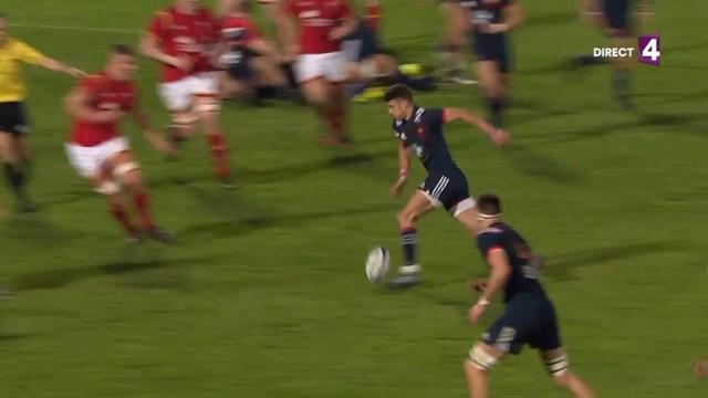 VIDEO. 6 Nations U20 - Romain Ntamack conclut avec talent une superbe relance de 80m des Bleuets