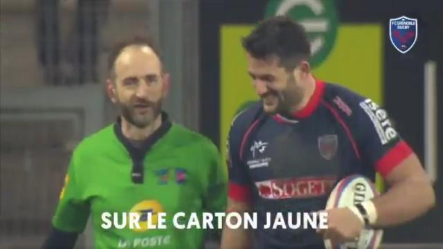 """VIDEO. INSOLITE. Romain Poite blague autour du carton jaune adressé à son """"patron"""", Fabrice Estebanez"""