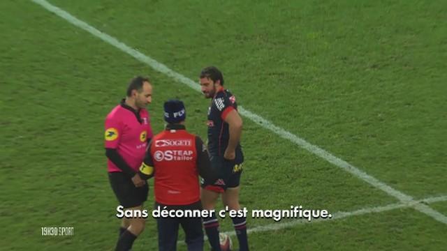 VIDÉO. Top 14 - La réaction insolite de Romain Poite lors de l'essai de Grenoble face au MHR