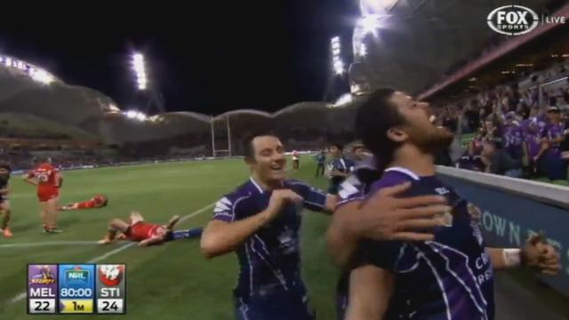 VIDEO. Rugby à 13. La fin de match dingue du Melbourne Storm face aux Dragons en NRL