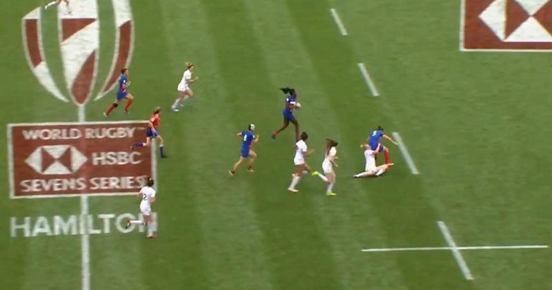 Rugby à 7 : les Bleues battent l'Angleterre et inscrivent l'un des plus beaux essais du tournoi [Vidéo]