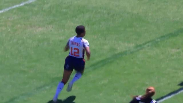 VIDEO. Rugby à 7 : l'Américaine Kristen Thomas nous offre un gros fail avec un en-avant dans l'en-but