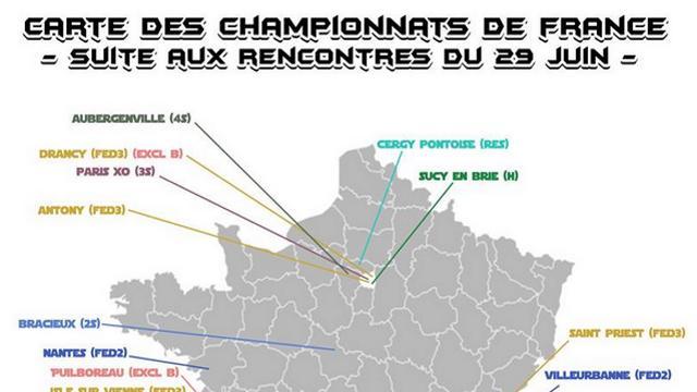 PHOTO. Rugby Amateur : la carte de France des clubs toujours en lice pour être champion