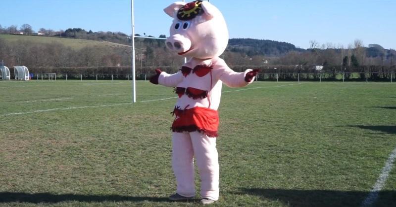 VIDÉO. Rugby Amateur : la cochonne du RC Lapalisse fait la promotion du derby face à Varennes-sur-Allier