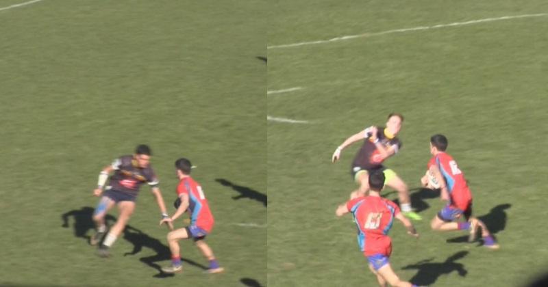 VIDÉO. Rugby Amateur : lancé dans la défense, il enchaîne deux tchik-tchak pour enrhumer ses adversaires