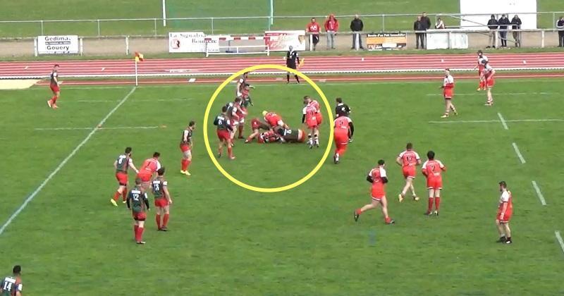 Rugby Amateur : quand un n°10 essaie de déblayer dans un ruck, ça donne... ça ! [VIDEO]