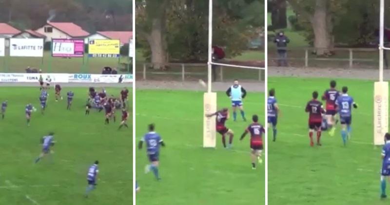 Rugby Amateur : Sébastien Fauqué à l'origine d'un essai... casquette avec Anglet [Vidéo]