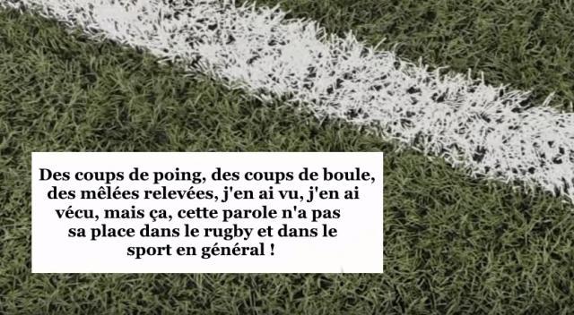 RUGBY AMATEUR : le témoignage émouvant d'un joueur après des insultes racistes proférées en plein match