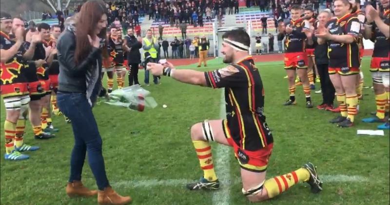 VIDÉO. Rugby Amateur : un 2e-ligne de Trélissac fait sa demande en mariage sur le terrain