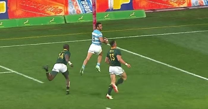 VIDEO. Rugby Championship : le magnifique essai de 80m de l'Argentine n'empêche pas la victoire des Springboks