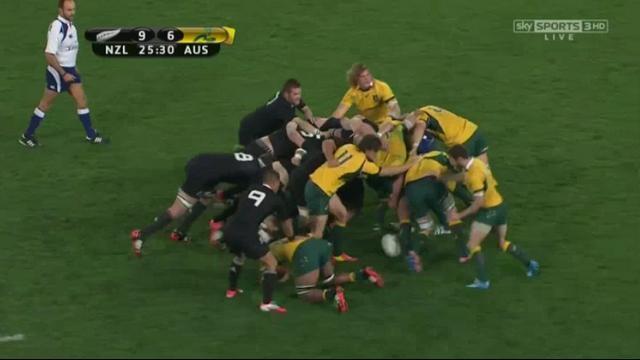 VIDEO. Rugby Championship - Les excellentes mêlées entre les All Blacks et les Wallabies participent au spectacle