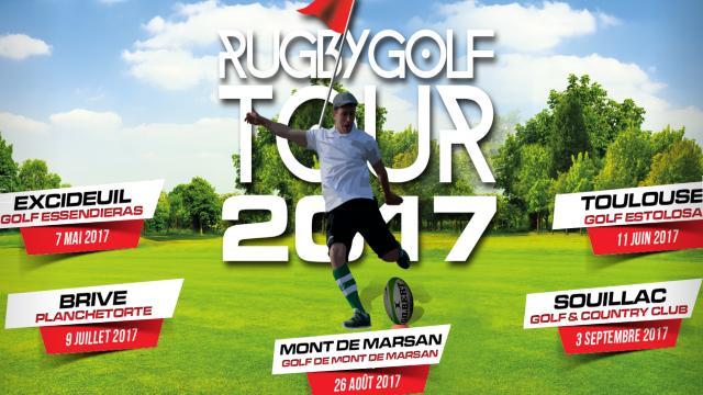 PHOTOS. Le RugbyGolf Tour 2017 débarque du 7 mai au 3 septembre dans cinq villes de France !