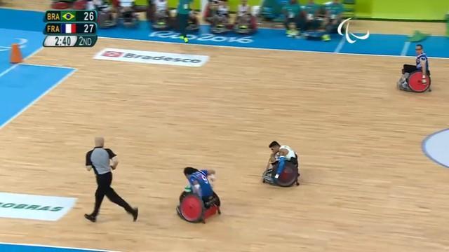 VIDEO. Rio 2016 - L'équipe de France de rugby fauteuil termine les Jeux sur une bonne note
