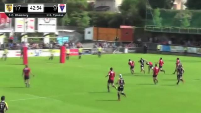 VIDEO. Fédérale 1. Le pilier de Chambéry Saba Kartvelishvili déchire la défense de Tyrosse sur 40m