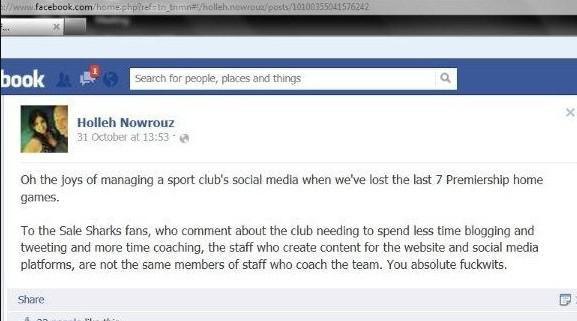 La community manager de Sale virée après avoir insulté des supporters sur Facebook