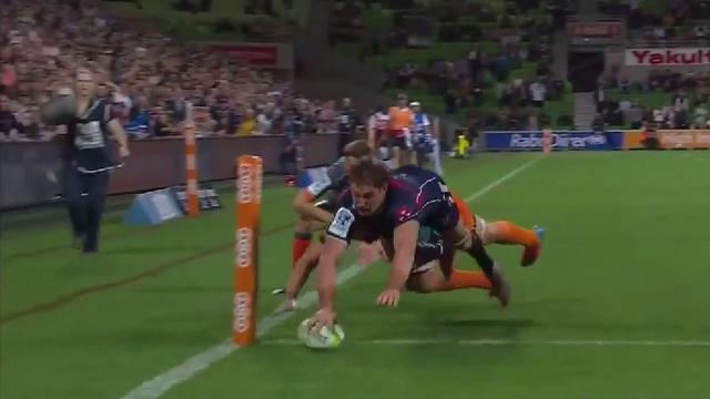 VIDEO. Super Rugby : Scott Higginbotham parachève la large victoire des Rebels avec un essai de 80m