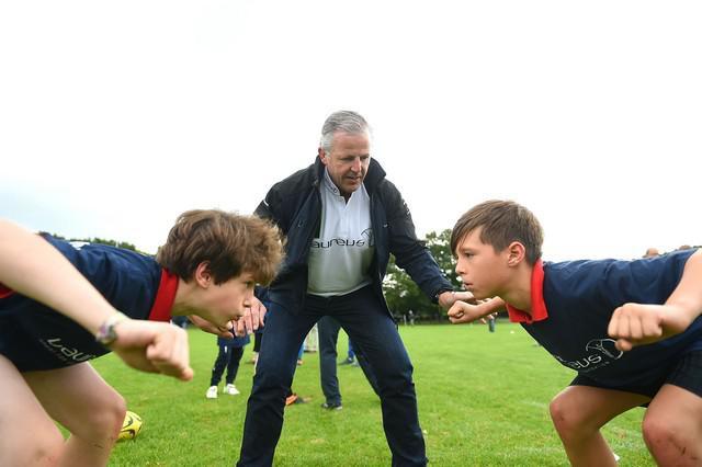 Sean Fitzpatrick, Morné du Plessis et Hugo Porta au service de la jeunesse pour la Fondation Laureus