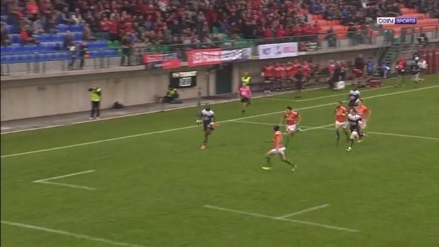 VIDEO. Champions Cup. Toulon. Semi Radradra dépose la défense de Trévise sur 60m