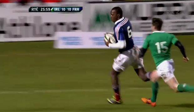VIDEO. 6 nations U20. Sekou Macalou signe un sublime exploit personnel face à l'Irlande