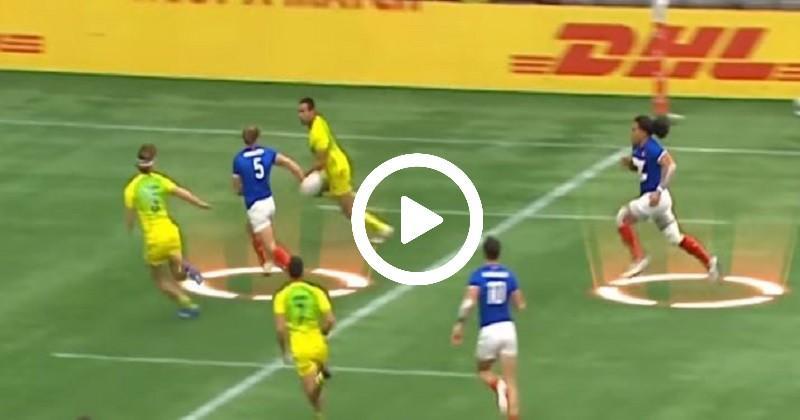 Rugby à 7: la délicieuse passe à l'aveugle de Parez pour l'essai français [VIDÉO]
