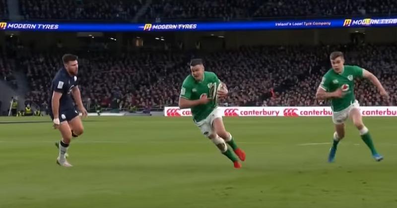VIDÉO - Ça feinte, ça coupe, ça régale : l'Irlande sort la combi' imparable pour l'essai de Sexton