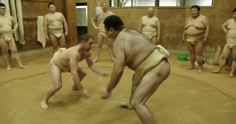 VIDÉO. INSOLITE. Shane Williams et Andy Powell défient des sumos à Osaka