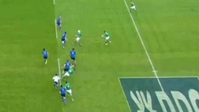 6 Nations - France vs Irlande. Simple avertissement pour Yoann Maestri après son coup d'épaule sur Jonathan Sexton