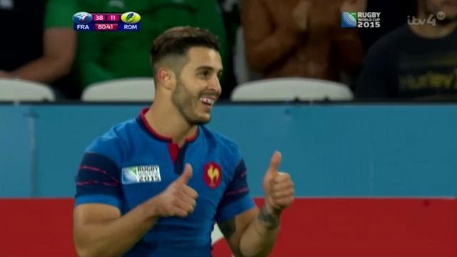 Coupe du monde. XV de France. Sofiane Guitoune répond présent face à la Roumanie dans la pure tradition des ailiers