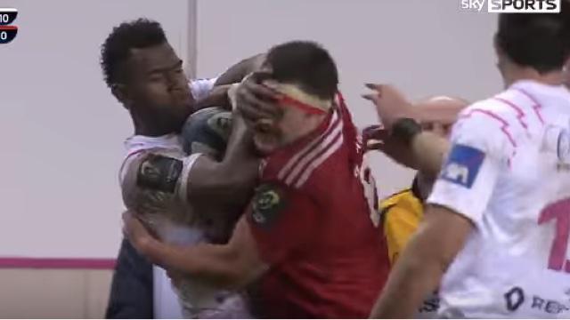 VIDÉO. Stade Français : Josaia Raisuque expulsé pour une fourchette sur un joueur du Munster