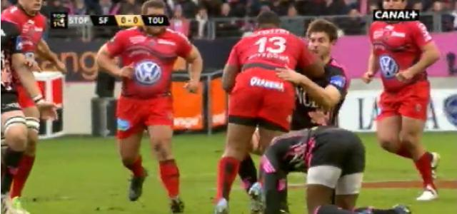 VIDEO. Mathieu Bastareaud met un cul à Alexandre Flanquart